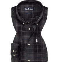 Barbour Hemd Wetheram grey marl
