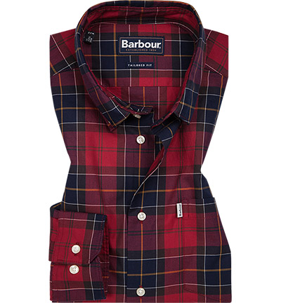 Barbour Hemd Wetheram red MSH4283RE51