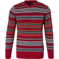 Barbour Case Fairisle Crew rich red