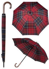 Barbour Tartan Walker Umbrella red