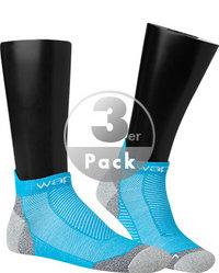 wapiti Laufsocken 3er Pack blau