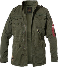 ALPHA INDUSTRIES Jacke Huntington Patch