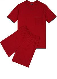 Seidensticker Kurz-Pyjama rot