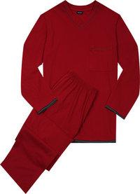 Seidensticker Pyjama rot