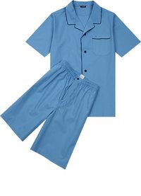 Seidensticker Kurz-Pyjama blau
