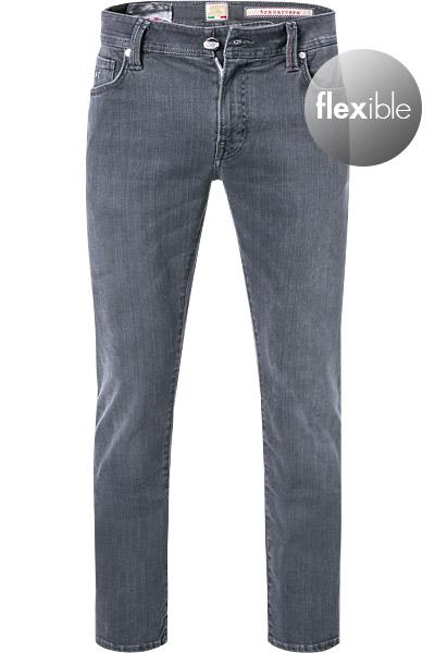 Artikel klicken und genauer betrachten! - Jeans aus Baumwoll-Stretch von sartoria tramarossa Moderne italienische Kreation für personalisierte Looks: Diese Jeans aus feinstem japanischen Denim mit hohem Stretch-Anteil, ist konzipiert für einen kontemporären Casual Stil. Aufwendig gearbeitete Zierdetails und eine cleane Optik sorgen für urbanes Flair und ein stilvolles Auftreten.   im Online Shop kaufen
