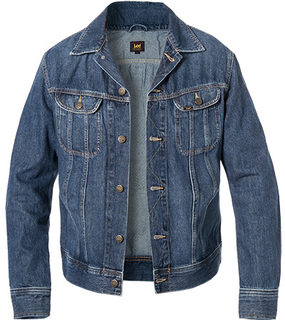 Lee Jacke Slim Rider Flick Dark L89RLJKA