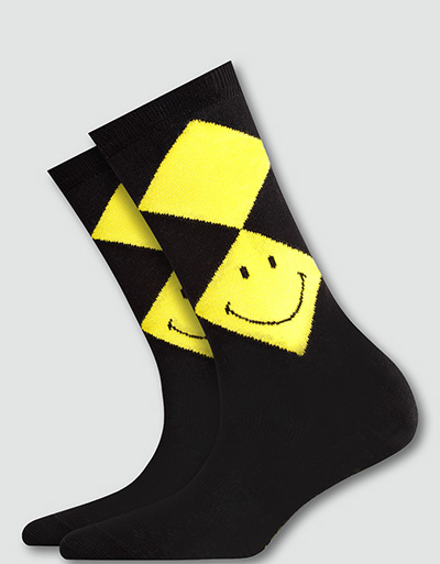 Burlington Socken Smiley Argyle 3er Pack 20720