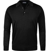 John Smedley Polo Pullover Dorset black