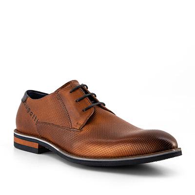 Artikel klicken und genauer betrachten! - Schnürschuhe aus Leder von bugatti Die Schuhe präsentieren sich im modischen Design. Der extravagante Style wird durch die Prägung gekonnt unterstrichen. Smarte Outfits werden durch diesen Begleiter perfekt komplettiert!   im Online Shop kaufen