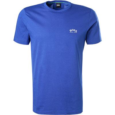 Artikel klicken und genauer betrachten! - T-Shirt aus reiner Baumwolle von BOSS Ein cleanes T-Shirt das mit einer leichten Jersey Qualität begeistert und für optimalen Tragekomfort sorgt. Das Modell sorgt mit einem entspannten Erscheinungsbild für eine Vielzahl an Outfitkombinationen. Vorderteil: Rundhals-Ausschnitt, Gerader Saumabschluss Details: T-Shirt Obermaterial: Jersey, Baumwolle 100 % ProduktFarbe: Royal Maße: Bei Größe M Rückenlänge mit Bündchen gemessen ca.   im Online Shop kaufen