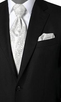 Wilvorst Krawattenplastron silber