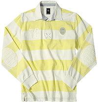 bugatti Moment Pullover gelb-weiß
