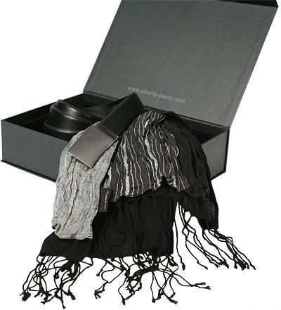 Alberto Geschenkbox Gürtel + Schal 08001000 Preisvergleich