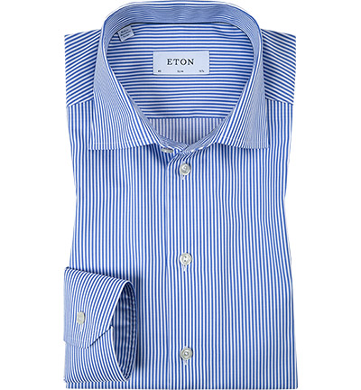 ETON Slim Fit blue-weiß 7640/79511/25