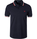 Fred Perry Slim Fit Polo navy-white-red M3600/471