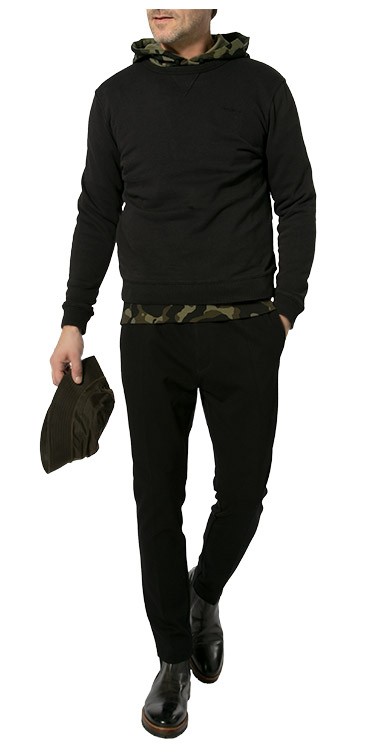All Black<br>Komplett-Outfit