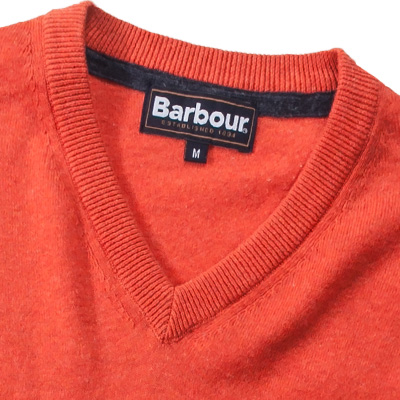 Barbour V-Neck Cotton Cashmere flame MKN0436OR91 (Dia 2/2)