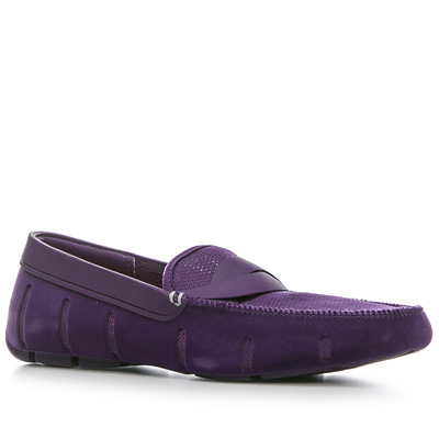 SWIMS Braid Loafer/purple velvet (Dia 1/2)