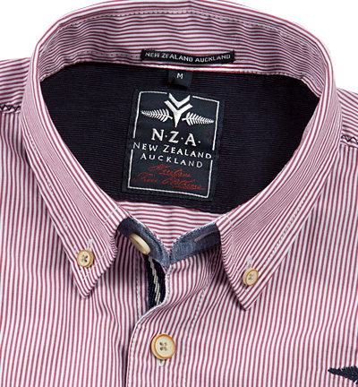 N.Z.A. Hemd 14GN500/cherry red (Dia 2/2)
