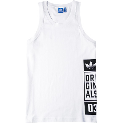 adidas ORIGINALS Tank Top white AJ7713 (Dia 1/2)