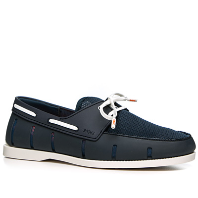 SWIMS Boat Loafer 21227/navy-white (Dia 1/2)