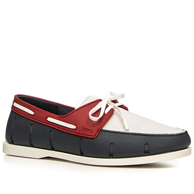 SWIMS Boat Loafer 21227/navy-red (Dia 1/2)