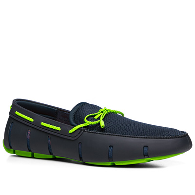 SWIMS Braided Lace Loafer 21215/navy-green (Dia 1/2)
