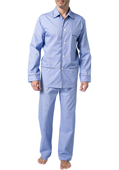 DEREK ROSE Piped Pyjama Set 5005/FELS003BLU (Dia 1/2)