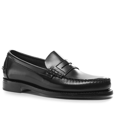 SEBAGO Classic black leather B76671 (Dia 1/2)
